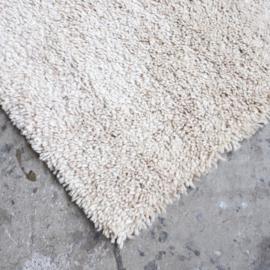 Jaren 70 wol tapijt vloerkleed wit