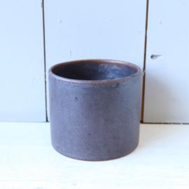 Vintage bloempot bruin