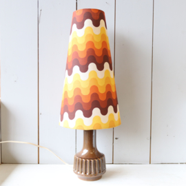 Vintage keramieken lampenvoet met kap