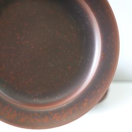 set 8 vintage bruin terra gebakbordjes