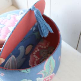 Vintage opberg doos stof