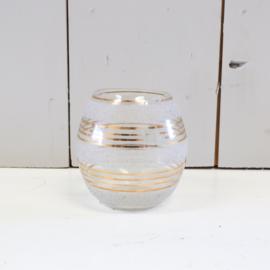 waxinelichthouder glas goud