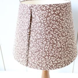 Vintage teak lampje met print kap