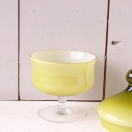 vintage bonbonniere groen glas