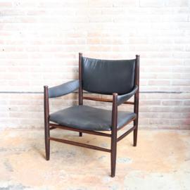 Vintage deens fauteuil palissander