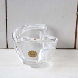 Vintage waxinelicht houders kristal glas