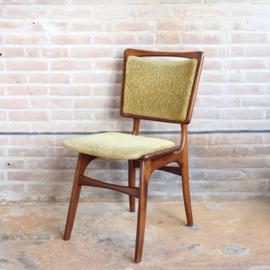 Vintage eettafel stoel geel