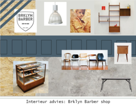 Interieur styling: Barbershop in modern vintage