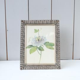 vintage fotolijst met bloem tekening