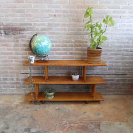 Vintage boekenrek hout
