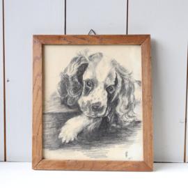 Vintage tekening hond