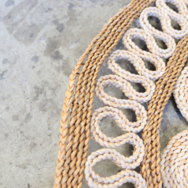 Vintage sisal kleed rond bohemian