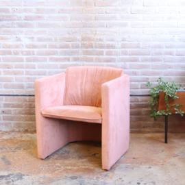 Vintage leolux saga suede roze
