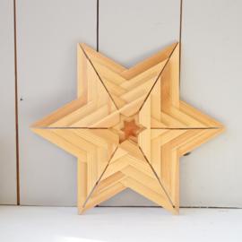vintage houten ster groot