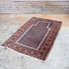 Vintage Perzisch tapijt oranje 150x90