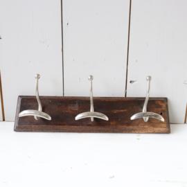 Vintage kapstok haken hout