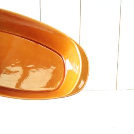 Vintage oker oranje ovenschaal regout