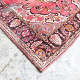 Vintage Perzisch tapijt  roze 198 x 153