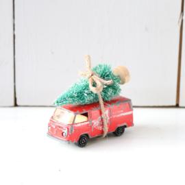 Vintage speelgoed auto kerstboom