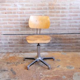 Vintage bureaustoel industrieel