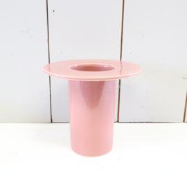 Vintage bloempot roze vaas