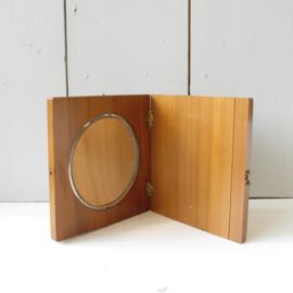 klein spiegeltje hout