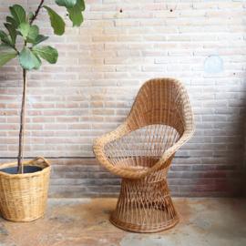Vintage rotan stoel riet