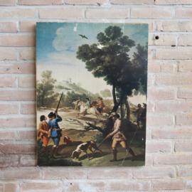Schilderij poster op hout