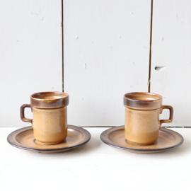 set vintage espresso kopjes
