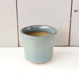 Vintage klein potje blauw