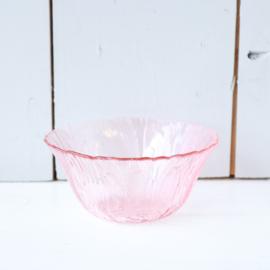 Vintage roze glas schaaltje
