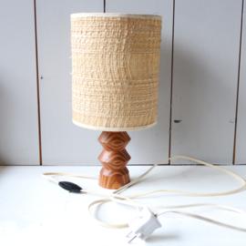 Vintage lampje houten voet