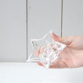 Vintage kandelaar glas ster