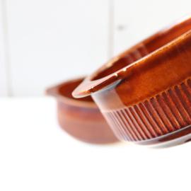 Vintage schaaltjes bruin