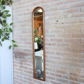 Vintage pas spiegel smal hout