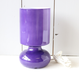 Vintage ikea glas lampje jaren 80 paars