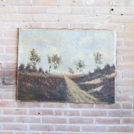 Oud schilderij heide