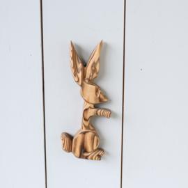 Vintage houten konijn muur