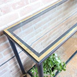 Vintage side table goud
