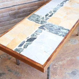 Vintage salontafel steen marmer