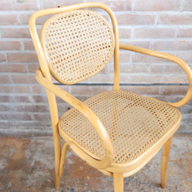 Vintage thonet stijl stoelen blank webbing
