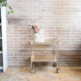 Vintage bar cart trolley goud