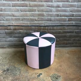 Vintage poef  roze