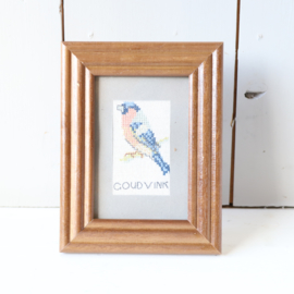 vintage borduurwerk vogel