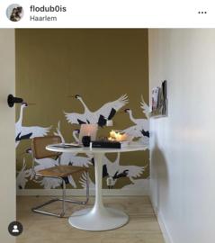 Ronde tafel met webbing stoel