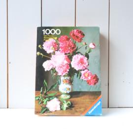 Vintage bloemen puzzel