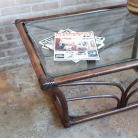 Vintage salontafel rotan