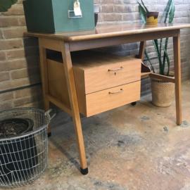 Vintage bureau hout klein