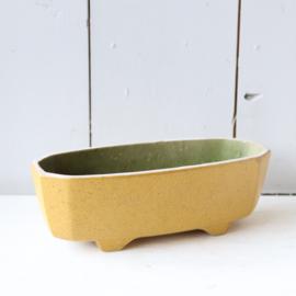 Vintage pot / plantenbak geel