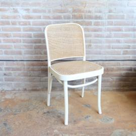 Vintage thonet stoel praag wit